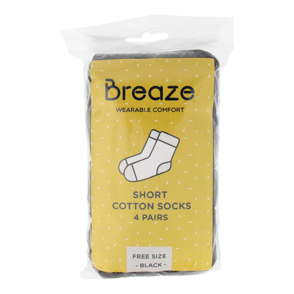 Breaze Disposable Cotton Short Socks