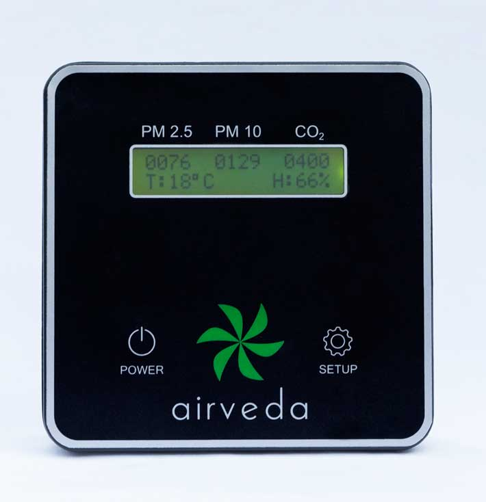 air pollution detector-Airveda - PM2.5, PM10, CO2