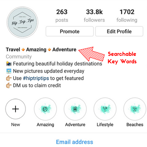 Searchable Instagram