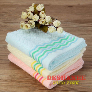 (Shop International) 100% Cotton Jacquard Cotton Terry Hand Towels - Towels 32Cmx71Cm Bathroom Towels Compressed Cotton Elegant Free