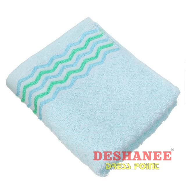 (Shop International) 100% Cotton Jacquard Cotton Terry Hand Towels - Blue / 32X71Cm - Towels 32Cmx71Cm Bathroom Towels Compressed Cotton