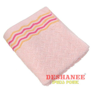 (Shop International) 100% Cotton Jacquard Cotton Terry Hand Towels - Pink / 32X71Cm - Towels 32Cmx71Cm Bathroom Towels Compressed Cotton