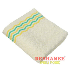 (Shop International) 100% Cotton Jacquard Cotton Terry Hand Towels - Yellow / 32X71Cm - Towels 32Cmx71Cm Bathroom Towels Compressed Cotton