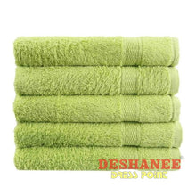 (Shop International) 100% Cotton Solid Plain Dyed Quick-Dry Face Towel - Green - Towels Beach Blue Coral Cotton Face Towels Free Shipping