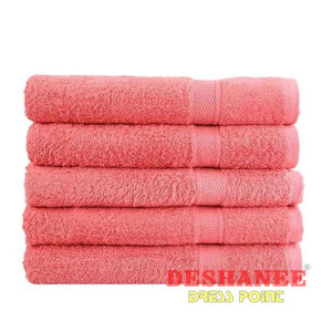 (Shop International) 100% Cotton Solid Plain Dyed Quick-Dry Face Towel - Red - Towels Beach Blue Coral Cotton Face Towels Free Shipping