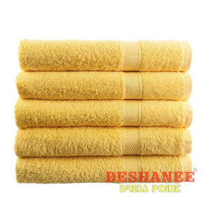 (Shop International) 100% Cotton Solid Plain Dyed Quick-Dry Face Towel - Yellow - Towels Beach Blue Coral Cotton Face Towels Free Shipping