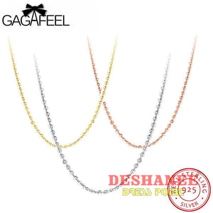 (Shop International) 100% Sterling Silver Jewelry Color Necklace - Accessories 45Cm 70 Cm Extend Chains Gold Jewelry Free Shipping Deshanee