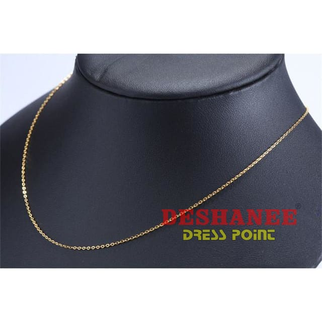 (Shop International) 100% Sterling Silver Jewelry Color Necklace - Gold Necklace / 70Cm - Accessories 45Cm 70 Cm Extend Chains Gold Jewelry