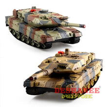 (Shop International) 1:24 Large Scale Remote Radio Control Rc Battle Tank - Toys Action Toys Army Green Army Style Boys Camouflage Free