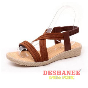 (Shop International) 15 Colors Flat Women Beach Sandals - Brown / 6 - Shoes 05 05 (Shoes) 06 06 (Shoes) 07 Free Shipping Deshanee Dress