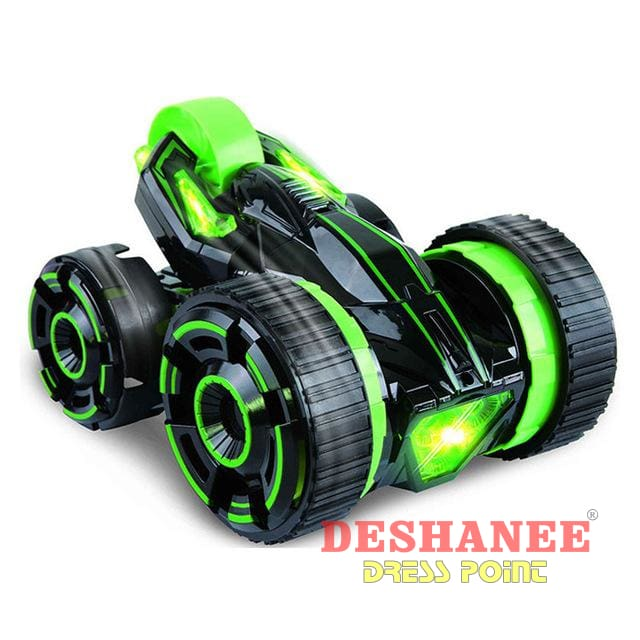 (Shop International) 30Km/hr High Speed Remote Control Car - Green - Toys Action Toys Black Car Toys Electric Toys Electronic Toys Free