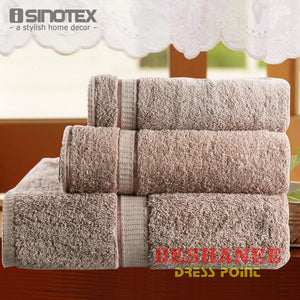 (Shop International) 3Pcs/lot 100% Cotton Towel Set - Towels Aquamarine Bath Towels Beige Cotton Face Towels Free Shipping Deshanee Dress
