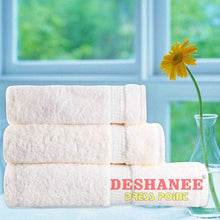 (Shop International) 3Pcs/lot 100% Cotton Towel Set - Beige / 3 Sizes - Towels Aquamarine Bath Towels Beige Cotton Face Towels Free Shipping