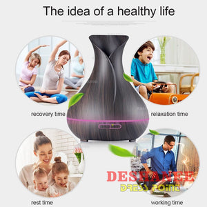 (Shop International) 400Ml Aroma Oil Diffuser Ultrasonic Air Humidifier 7 Color Changing Led Lights - Accessories Air Humidifier Oil