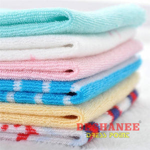 (Shop International) 8Pcs/lot Single Small Square Soft Cute Baby Towel - Towels 20Cm X 20Cm Baby Towels Boys Casual Cute Free Shipping