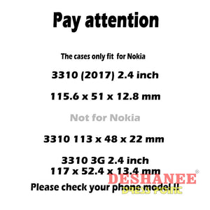 (Shop International) Akabeila Silicone Cases For Nokia 3310 - Tech Accessories Anti Knock Back Covers Best Case Best Phone Case Black Free