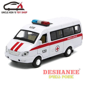 (Shop International) Ambulance Scale Model Metal Car Toy - Toys Ambulance Car Toys Educational Toys Electronic Toys Functioning Toys Free