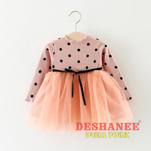 (Shop International) Baby Girls Princess Party Dress - 6 / 3M - Clothing Dresses 12M 18M 24M 3M 6M Free Shipping Deshanee Dress Point