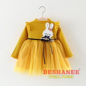 (Shop International) Baby Girls Princess Party Dress - A / 3M - Clothing Dresses 12M 18M 24M 3M 6M Free Shipping Deshanee Dress Point