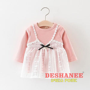(Shop International) Baby Girls Princess Party Dress - U / 3M - Clothing Dresses 12M 18M 24M 3M 6M Free Shipping Deshanee Dress Point