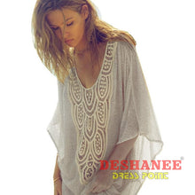 (Shop International) Batwing Sleeve Casual Shirt Blouse - Clothing Tops Batwing Sleeve Beige Blouses Casual Chiffon Free Shipping Deshanee