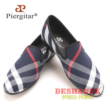 (Shop International) Blue & White Plaid Canvas Luxurious Shoe - Shoes Adults Autumn Breathable Canvas Shoes Casual Free Shipping Deshanee