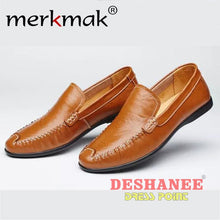 (Shop International) British Style Genuine Leather Driving Shoe - Brown Men Shoes / 5.5 - Shoes 06 (Shoes) 07 (Shoes) 08 (Shoes) 10 (Shoes)