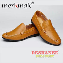 (Shop International) British Style Genuine Leather Driving Shoe - Yellow Men Shoes / 5.5 - Shoes 06 (Shoes) 07 (Shoes) 08 (Shoes) 10 (Shoes)