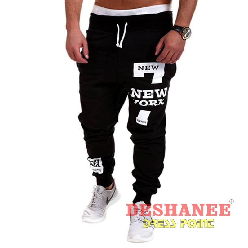 (Shop International) Cargo Loose Leisure Joggers Pant - Black / L - Clothing Autumn Cargo Pants Casual Jogger Leisure Free Shipping Deshanee