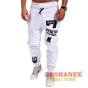 (Shop International) Cargo Loose Leisure Joggers Pant - White / L - Clothing Autumn Cargo Pants Casual Jogger Leisure Free Shipping Deshanee