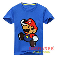 (Shop International) Children New Cartoon Printing Short Sleeves T-Shirt - Type2 Blue / 24M - Clothing Tops 10T 11T 18M 24M 3T Free Shipping