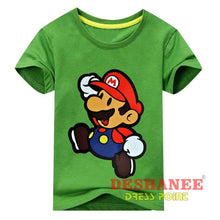 (Shop International) Children New Cartoon Printing Short Sleeves T-Shirt - Type2 Green / 24M - Clothing Tops 10T 11T 18M 24M 3T Free