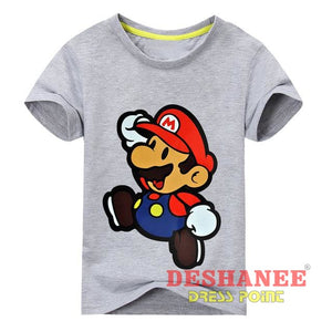 (Shop International) Children New Cartoon Printing Short Sleeves T-Shirt - Type2 Grey / 24M - Clothing Tops 10T 11T 18M 24M 3T Free Shipping