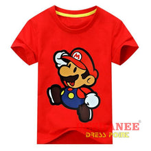 (Shop International) Children New Cartoon Printing Short Sleeves T-Shirt - Type2 Red / 24M - Clothing Tops 10T 11T 18M 24M 3T Free Shipping