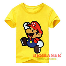 (Shop International) Children New Cartoon Printing Short Sleeves T-Shirt - Type2 Yellow / 24M - Clothing Tops 10T 11T 18M 24M 3T Free