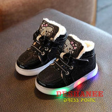 (Shop International) Childrens Casual Led Shoes - Black / 11 - Shoes 07 07 (Shoes) 08 08 (Shoes) 09 Free Shipping Deshanee Dress Point