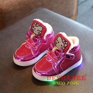 (Shop International) Childrens Casual Led Shoes - Peach / 11 - Shoes 07 07 (Shoes) 08 08 (Shoes) 09 Free Shipping Deshanee Dress Point