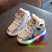 (Shop International) Childrens Casual Led Shoes - Silver / 11 - Shoes 07 07 (Shoes) 08 08 (Shoes) 09 Free Shipping Deshanee Dress Point
