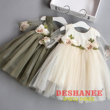 (Shop International) Cute Floral Half Sleeve Girls Dress - Clothing Dresses 04 05 06 07 08 Free Shipping Deshanee Dress Point