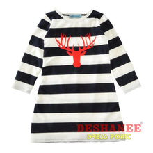 (Shop International) Deer Head Mother & Daughter Matching Striped Dresses - Clothing Dresses 2T 3T 4T 5T 6T Free Shipping Deshanee Dress