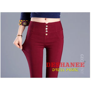 (Shop International) Elegant Womens Casual Slim Stretch Pencil Pant - Clothing Bottoms 2Xl 2Xl (Women) 3Xl 3Xl (Women) Acetate Free Shipping