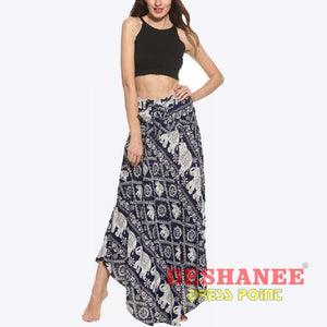 (Shop International) Floral Print Long Elegant Beach Maxi Skirt - Clothing Bottoms 2Xl 2Xl (Women) 3Xl 3Xl (Women) Beach Free Shipping