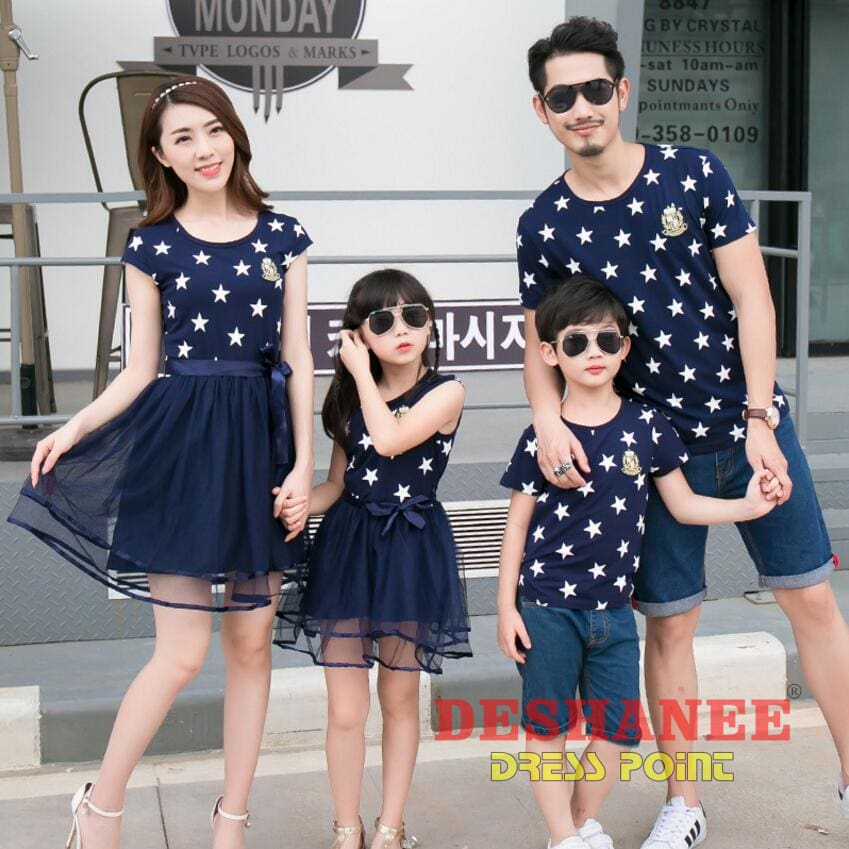 23d0a51c0e (Shop International) Matching Family Clothing Outfits Mother & Daughter  Dresses Son & Dad T ...