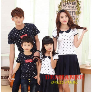 3158f37f (Shop International) Matching Family Clothing Outfits Mother & Daughter  Dresses Son & Dad T