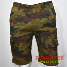 (Shop Sri Lanka) Camouflage Cargo Pockets Mens Short - 28 / Army Green - Sri Lanka Clothing Bottoms 28 30 32 34 36 Free Shipping Deshanee