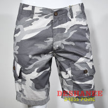 (Shop Sri Lanka) Camouflage Cargo Pockets Mens Short - 28 / Gray - Sri Lanka Clothing Bottoms 28 30 32 34 36 Free Shipping Deshanee Dress