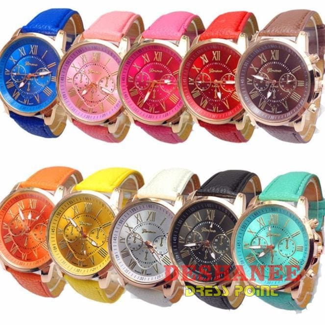 (Wholesale Only) Roman Analog Quartz Watch 10Pc Set - Wholesale Accessories Analog Analog Watches Aquamarine Black Blue Free Shipping