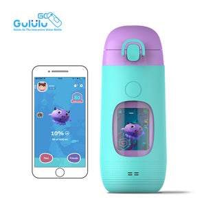 Gululu Go - Parrot Green - Gululu_Interactive_water_bottle