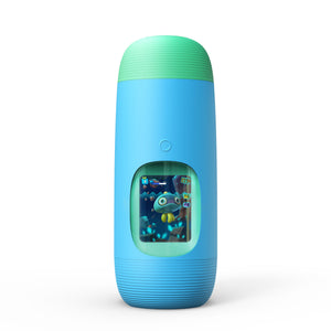 Gululu The Interactive Water Bottle & Health Tracker For Kids, plus App (Bowhead Blue) - Gululu_Interactive_water_bottle