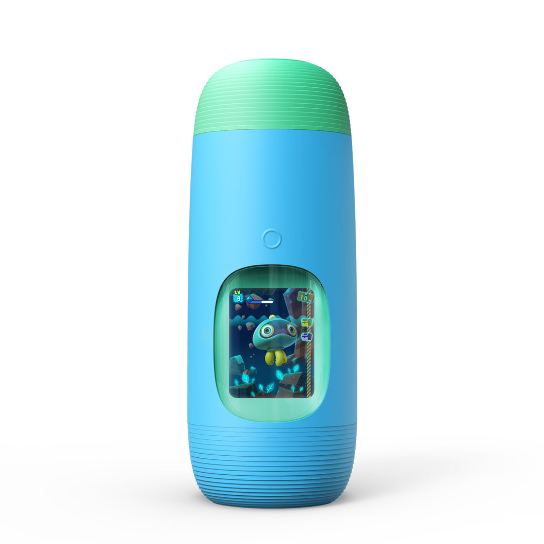 Gululu The Interactive Water Bottle & Health Tracker For Kids, plus App (Bowhead Blue)